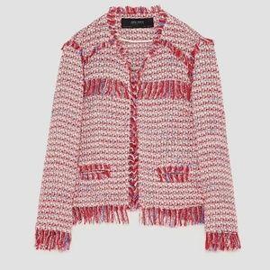 NWT Zara tweed jacket like Chanel - fits like L